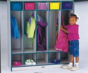 Rainbow Accents 5-Section Locker with Step