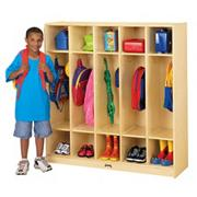 Coat Locker, 5 Sections, 48&quot;x15&quot;x50-1/2&quot;