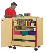 Art Cart with Storage