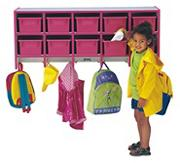 Rainbow Accents Coat Locker with Cubbies