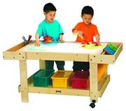 Creative Caddie Light Table w/bins - 42&quot; Long