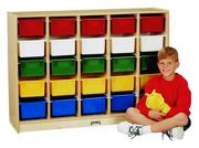 25-Tray E-Z Glide Cubbie with Color Trays