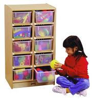 10-Tray Cubbie with Color Trays