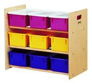9-Tray Storage Rack with Color Trays