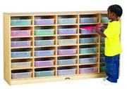 30 Paper-Tray Cubbie with Color Trays