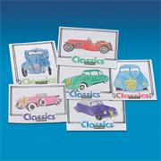 Coloring Sheets - Classic Cars (pack of 12)