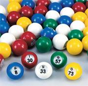 Plastic Bingo Balls  (set of 75)