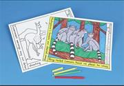 Coloring Placemats - Endangered Animals  (set of 10)