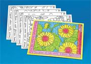 Coloring Placemats - Flowers  (set of 10)