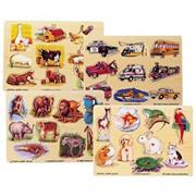 Melissa & Doug� Easy Grip Pegged Puzzles  (set of 4)