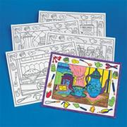 Coloring Placemats, In the Kitchen  (pack of 10)