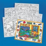 Coloring Placemats, In the Shop  (pack of 10)