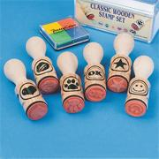 Classic Wood Stamps (pack of 6)