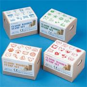 Assorted Wood Stamps (pack of 48)
