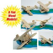 Unfinished Antique Air Fleet, Unassembled (set of 6)