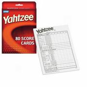 Yahtzee Score Pads, 80 Sheets