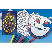 Color-Me� Dinosaur Masks Craft Kit (makes 24)