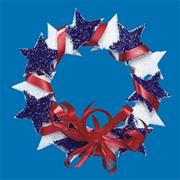 &#039;America the Beautiful&#039; Wreath Craft Kit (makes 12)