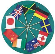 EduCraft Flags of All Nations Craft Kit  (makes 12)