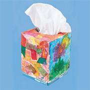 Color Splash! Tissue Strips Tissue Box Craft Kit (makes 24)