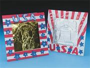 Patriotic Metal Rubbing Frames Craft Kit (makes 12)