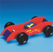 Rubber Band Race Cars Craft Kit (makes 12)