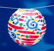 Paper Round Lanterns Craft Kit (makes 12)