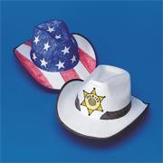 Color-Me Cowboy Hats Craft Kit (makes 12)