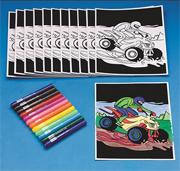 Dune Buggy Velvet Art Craft Kit (makes 12)