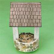 Unfinished Wishing Well Can Bird Feeder Craft Kit (makes 12)