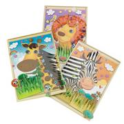Animal Sticker Scenes 3-D Craft Kit (makes 12)