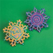 Wood Snowflake Craft Kit (makes 12)