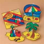 Beach Sun Catchers Craft Kit (makes 48)
