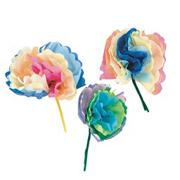 Tissue Mini Flowers Craft Kit (makes 84)
