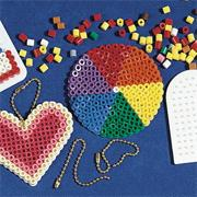 Fuse Bead Key Rings Craft Kit (makes 48)