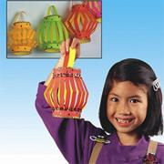EduCraft� Neon Paper Lanterns Craft Kits  (makes 40)