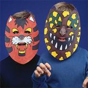 EduCraft Animal Color-Me Masks Craft Kit (makes 24)