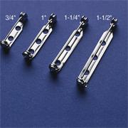 Nickel Pin Backs, 3/4&quot;  (pack of 50)