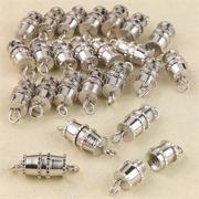 Silver Barrel Clasps (pack of 24)