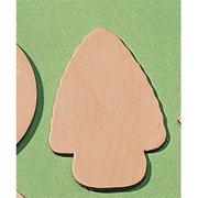 "Leather Shape  3-1/2"" - Arrowhead  (pack of 25)"