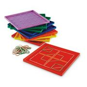 Plastic Geoboard Classpack (set of 10)