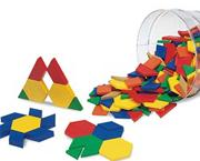 Plastic Pattern Blocks  (set of 250)
