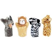 Animal Hand Puppet Set: Zoo (set of 4)