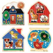 Melissa & Doug� Jumbo Knob Puzzles (set of 4)