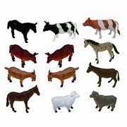 Plastic Farm Animals (set of 12)