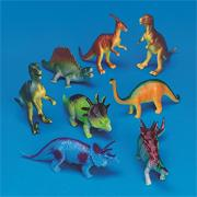 Plastic Dinosaurs 7&quot; (set of 8)