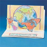 Continents Pop-Up Book (pack of 6)