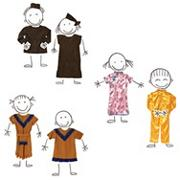 Multi-Ethnic Costumes (set of 6)