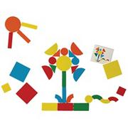 Magnetic Wooden Shape Blocks (set of 73)
