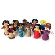 Multicultural Puppet Set (set of 10)